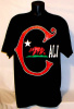"California Cali ""C"" Hip Hop T shirt Blk / Red Wholesale (6 Pack)"