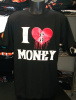 I Love Money Hip Hop T Shirt BLK/RED Urban Wear Wholesale 6 Pack