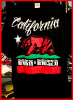 California Born & Raised Tattoo Hip Hop T shirt Blk /Red Wholesale (6 Pack)