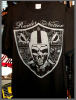 Raider Nation Bandana Shield Hip Hop T shirt Blk /Shadow Wholesale (6 Pack)