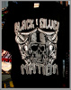 Black & Silver Nation Skull Hip Hop T shirt Blk /Shadow Wholesale (6 Pack)